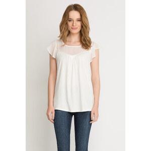 Orsay T-Shirt mit Chiffoneinsatz