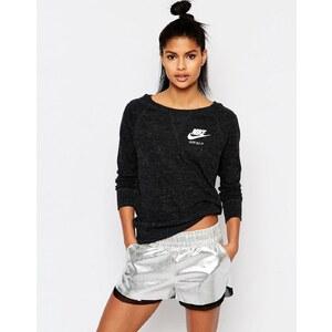 Nike - Sweat ras de cou avec petit logo en tissu délavé vintage - Noir