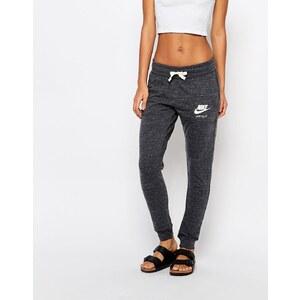 Nike - Pantalon de survêtement en tissu délavé style vintage avec petit logo - Gris