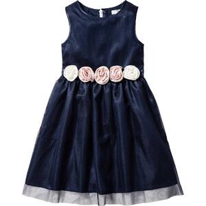 bpc bonprix collection Robe avec application florale, T. 104-158 bleu sans manches enfant - bonprix
