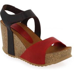 Sandales et nu-pieds Femme Yokono en Cuir Rouge