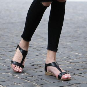 Lesara Sandales nu-pieds avec contrastes de couleurs
