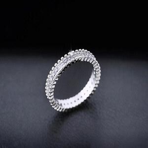 Lesara Damen-Ring Zirkonia - Silber - 51