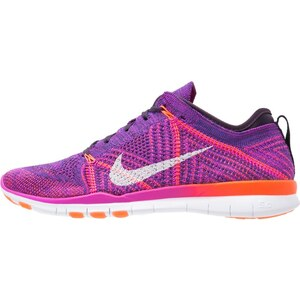 Nike Performance FREE TR FLYKNIT Sneaker low hyper volt/white/total crimson/purple