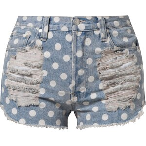 MINKPINK Jeans Shorts washed blue denim