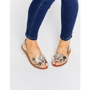 ASOS - JULIEN - Chaussures en cuir avec ornements - Argenté
