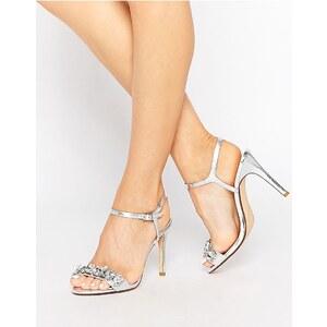 Dune - Mya - Sandalen mit Schmucksteinverzierung - Silber