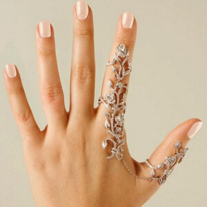 Lesara Statement-Doppel-Ring mit Strass