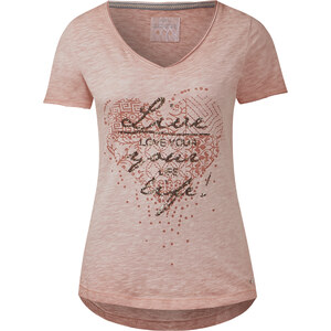 Cecil Shirt mit Glitzerprint - rose beryl, Herren
