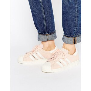 adidas Originals - Superstar 80's - Sneakers in gehauchtem Rosa - Gehaucht rosa