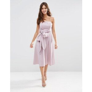 ASOS WEDDING - Robe courte structurée avec nœud - Violet