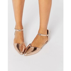 Head over Heels By Dune Hyrah Flache Schuhe in Roségold - Gold