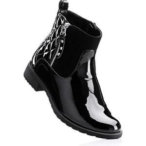 BODYFLIRT Bottines noir avec 2,5 cm talon carréchaussures & accessoires - bonprix