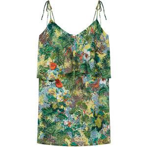 MANGO Bedrucktes Kleid Mit Volant