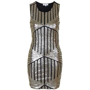 Topshop **Bodycon-Kleid mit Paillettenrauten von WYLDR - Gold