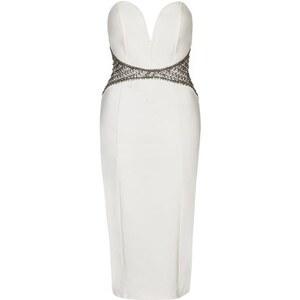 Topshop **Verziertes Halo Kleid von TFNC - Weiß