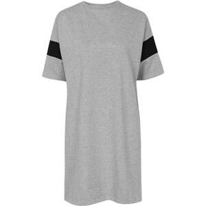 Topshop T-Shirt-Kleid im Baseball-Stil von Boutique - Grau