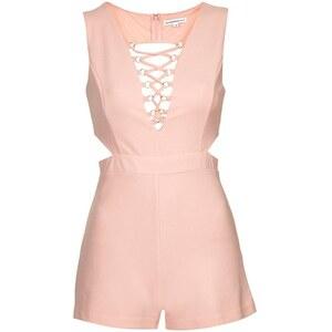 Topshop **Playsuit mit V-Ausschnitt von Glamorous Petites - Pink