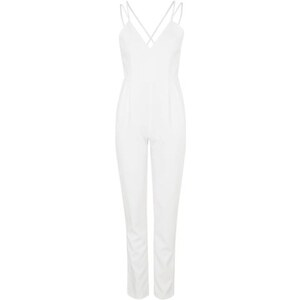 Topshop **Jumpsuit mit überkreuzter Rückseite von Glamorous - Weiß