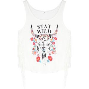 "Tally Weijl Weißes Top mit ""Stay Wild""-Print"