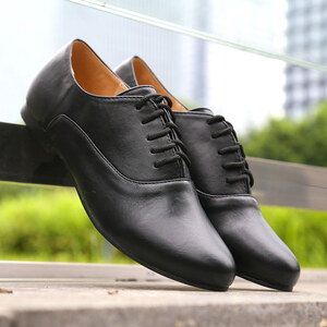 Lesara Chaussures lacées style Oxford imitation cuir