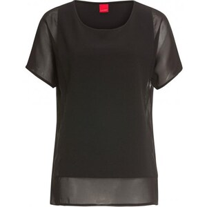 Livre Damen Bluse Oversize schwarz