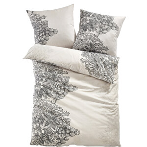 bpc living Linge de lit Clara, polycoton gris maison - bonprix