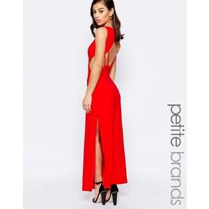 Lipstick Boutique Petite - Robe longue à grand décolleté dos - Rouge