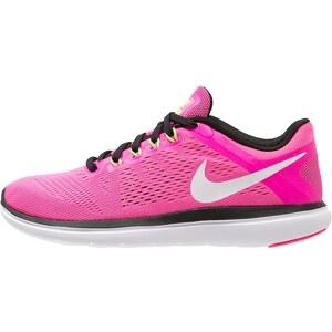Nike Performance FLEX 2016 RUN Laufschuh Wettkampf pink blast/white/black/electric green
