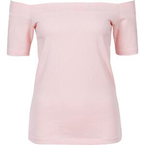 RAINBOW MUST HAVE: Shirt mit Carmen-Ausschnitt in rosa für Damen von bonprix