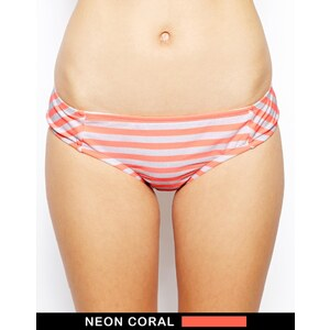Bikini Lab - I Just Wanna See You - Bas de bikini coquin à rayures et nœud