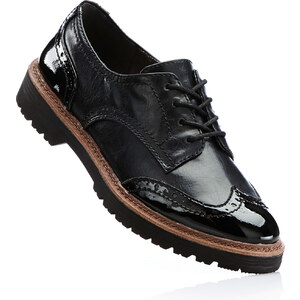 Chaussures à lacets noir avec 3 cm platchaussures & accessoires - bonprix