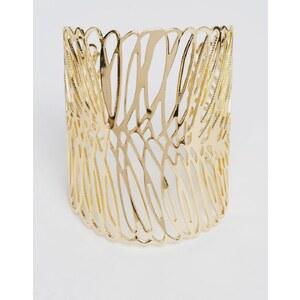 ASOS - Bracelet manchette motif aile - Doré