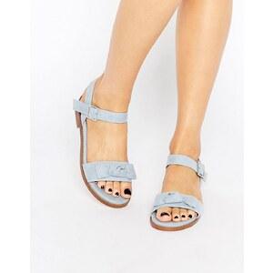 ASOS - FRESCO - Sandalen mit Schleifen - Blassblau
