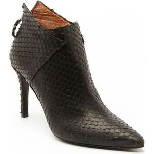 Ann Tuil Atron - Low boots à talon en cuir - noir