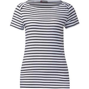 Street One - T-shirt rayé Edana - White