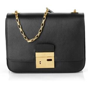 Michael Kors Collection Sacs portés main, Gia Chain Shoulder Flap Bag MD Black en noir