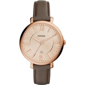 Fossil Montres, Jacqueline Watch Leather Rose Dark Brown en marron