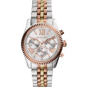 Michael Kors Montres, Lexington Ladies Watch Slvr/Gld/Rse Gld en or, rose pâle, argent