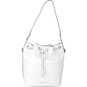 Michael Kors Sacs à Bandoulière, Dottie LG Leather Bucket Bag Optic White en blanc