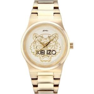 Kenzo Montres, Tiger Head Watch Gold en or