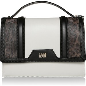 Class Cavalli Sacs à Bandoulière, Claudia Crossbody Bag Signature Collection Black/Offwhite en blanc