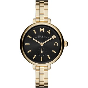 Marc Jacobs Montres, Sally Stainless Steel Gold/Black en or, noir