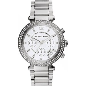 Michael Kors Montres, Parker Silver-Tone Watch en argent