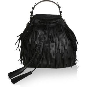 Abro Sacs à Bandoulière, Velvet Fringed Bucket Bag Calf Black en noir