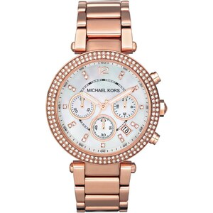 Michael Kors Montres, Parker Rose Gold-Tone Watch en rose pâle