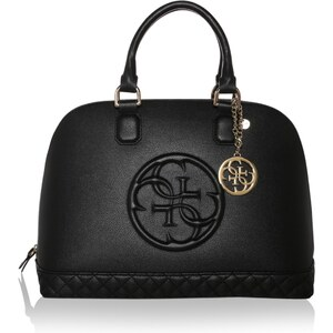 Guess Sacs portés main, Amy Dome Satchel Bag Black en noir