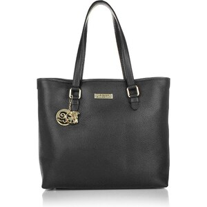 Versace Collection Sacs à Bandoulière, Borsa Shopping Vitello Stampa Nero/Oro Chiaro en noir