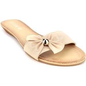 Sandale beige Noeud LOLA - Cendriyon