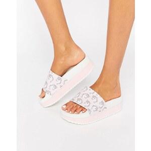 TheWhiteBrand - Flache Sandalen mit Einhornprint - Mehrfarbig